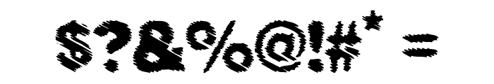 BLACK RAIN Font OTHER CHARS