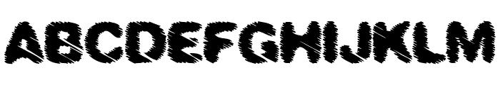 BLACK RAIN Font UPPERCASE
