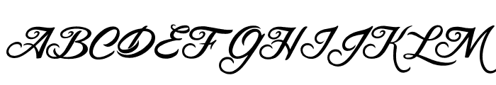 BLANCCHATEAU-Regular Font UPPERCASE