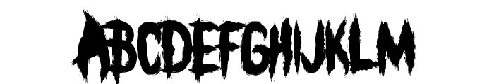 BLEEECH Font UPPERCASE