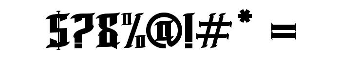 BLNKTaperLucker Font OTHER CHARS