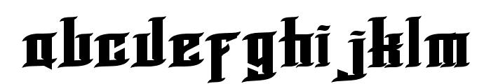 BLNKTaperLucker Font LOWERCASE