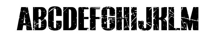 BLUEFISH BLACK SCRATCHED Demo Font UPPERCASE