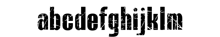 BLUEFISH SCRATCHED Demo Font LOWERCASE