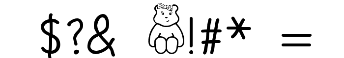 BLUSH BEAR Font OTHER CHARS