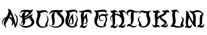 Black Ball Tattoo Personal Use Font UPPERCASE