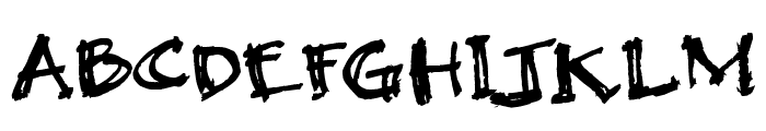 Black Beauty Font UPPERCASE