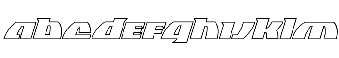 Black Bishop Outline Italic Font LOWERCASE
