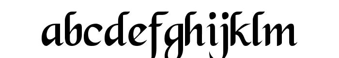 Black Chancery Font LOWERCASE