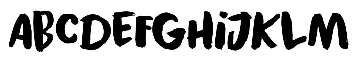 Black Cluster DEMO Regular Font LOWERCASE