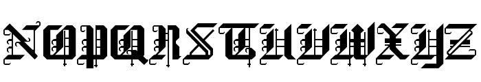 Black Forest Regular Font UPPERCASE