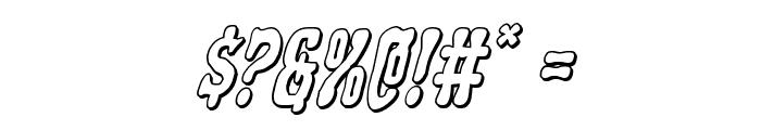 Black Gunk 3D Italic Font OTHER CHARS