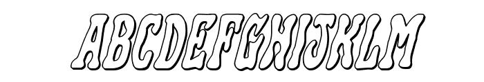 Black Gunk 3D Italic Font UPPERCASE