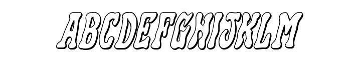 Black Gunk 3D Italic Font LOWERCASE