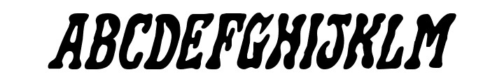 Black Gunk Expanded Italic Font UPPERCASE