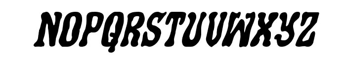 Black Gunk Expanded Italic Font LOWERCASE