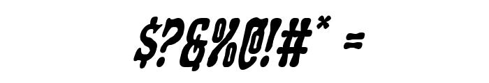 Black Gunk Italic Font OTHER CHARS