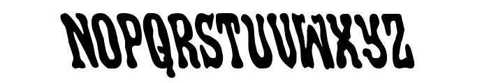 Black Gunk Leftalic Font UPPERCASE