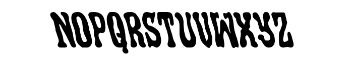 Black Gunk Leftalic Font LOWERCASE