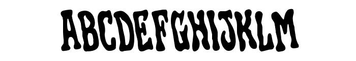 Black Gunk Rotated Font UPPERCASE