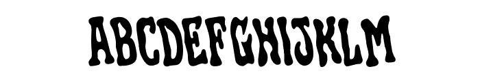 Black Gunk Rotated Font LOWERCASE