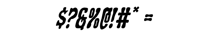 Black Gunk Staggered Italic Font OTHER CHARS