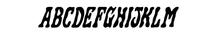 Black Gunk Staggered Italic Font UPPERCASE