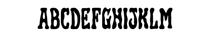 Black Gunk Staggered Font LOWERCASE
