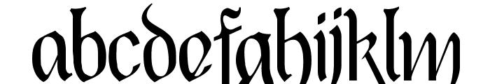 Black Heart Inertia Font LOWERCASE