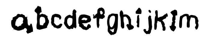 Black Magic * Regular Font LOWERCASE