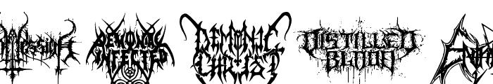 Black Metal G Font UPPERCASE