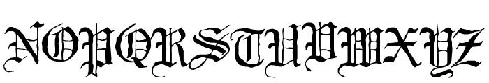 Black Night Font UPPERCASE