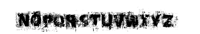 Black Oak  Font UPPERCASE