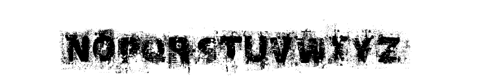 Black Oak  Font LOWERCASE