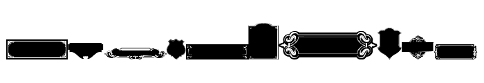 Black Panels Free Regular Font OTHER CHARS