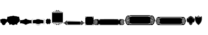 Black Panels Free Regular Font LOWERCASE
