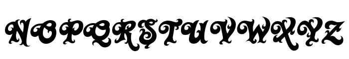 Black Rose Font UPPERCASE