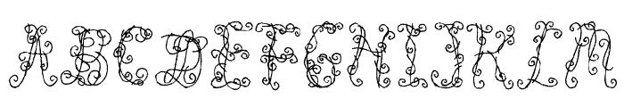 Black Roses Font UPPERCASE