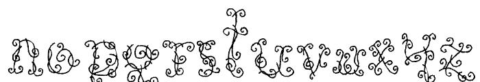 Black Roses Font LOWERCASE
