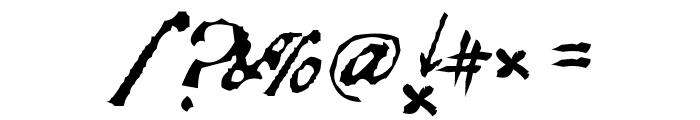 Black Sam's Gold Font OTHER CHARS