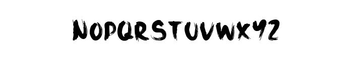 Black Sand Font LOWERCASE