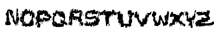 Black Shirt Slime Trail Font LOWERCASE