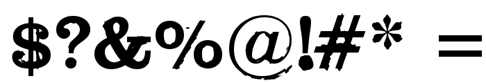 Black Widow Font OTHER CHARS