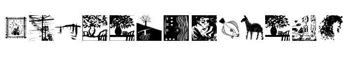 BlackArt Font LOWERCASE