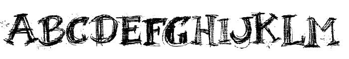 BlackBoard Font UPPERCASE