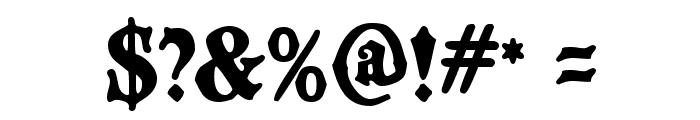 BlackCastleMF Font OTHER CHARS