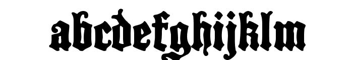 BlackCastleMF Font LOWERCASE
