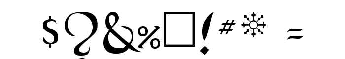 BlackChancery Regular Font OTHER CHARS