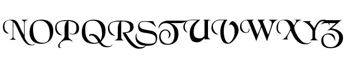 BlackChancery Regular Font UPPERCASE