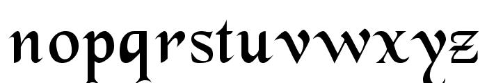 BlackChancery Regular Font LOWERCASE